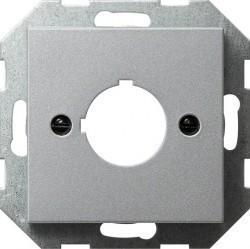 Накладка на мультимедийную розетку Gira SYSTEM 55, алюминий, 027226
