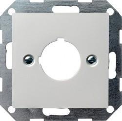 Накладка на мультимедийную розетку Gira SYSTEM 55, белый матовый, 027227