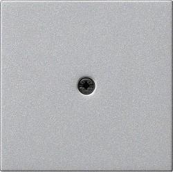 Накладка на вывод кабеля Gira SYSTEM 55, алюминий, 027426