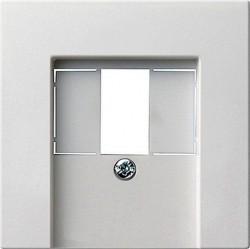 Накладка на аудиорозетку Gira SYSTEM 55, белый матовый, 027627