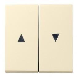 Клавиша для жалюзийного выключателя Gira SYSTEM 55, кремовый глянцевый, 029401