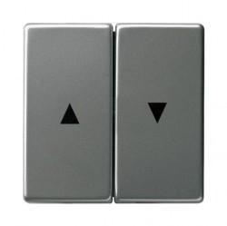 Клавиша двойная Gira EDELSTAHL, нержавеющая сталь, 029420
