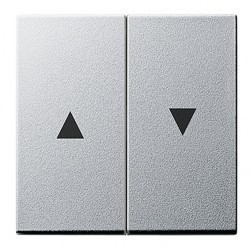 Клавиша для жалюзийного выключателя Gira SYSTEM 55, алюминий, 029426