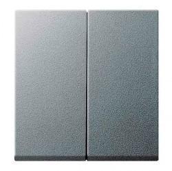 Клавиша двойная Gira SYSTEM 55, алюминий, 029526
