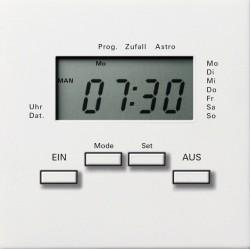 Таймер Gira F100, электронный, белый глянцевый, 0385112