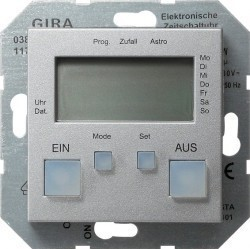 Таймер Gira SYSTEM 55, электронный, алюминий, 038526