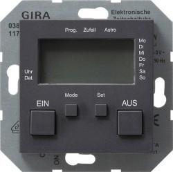 Таймер Gira SYSTEM 55, электронный, антрацит, 038528