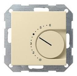 Термостат комнатный Gira SYSTEM 55, кремовый глянцевый, 039001