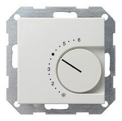 Термостат комнатный Gira SYSTEM 55, белый глянцевый, 039003