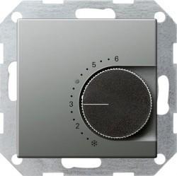 Термостат комнатный Gira EDELSTAHL, стальной, 039020