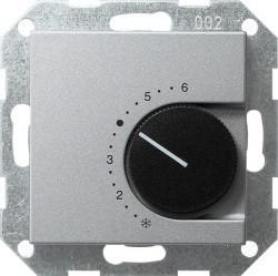 Термостат комнатный Gira SYSTEM 55, алюминий, 039026