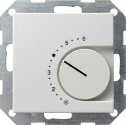 Термостат комнатный Gira SYSTEM 55, белый матовый, 039027