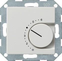 Термостат комнатный Gira SYSTEM 55, белый глянцевый, 039103