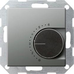 Термостат комнатный Gira EDELSTAHL, стальной, 039120