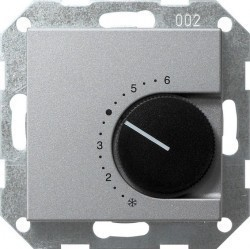 Термостат комнатный Gira SYSTEM 55, алюминий, 039126