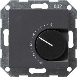 Термостат комнатный Gira SYSTEM 55, антрацит, 039128