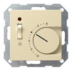 Термостат комнатный Gira SYSTEM 55, кремовый глянцевый, 039201