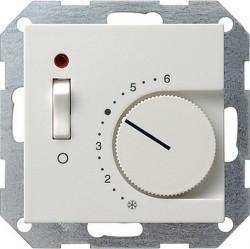 Термостат комнатный Gira SYSTEM 55, белый глянцевый, 039203