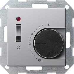 Термостат комнатный Gira E22, алюминий, 0392203