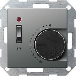 Термостат комнатный Gira E22, стальной, 039220
