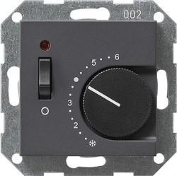 Термостат комнатный Gira SYSTEM 55, антрацит, 039228
