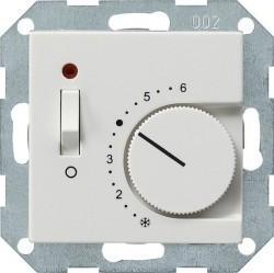 Термостат комнатный Gira SYSTEM 55, белый глянцевый, 039303