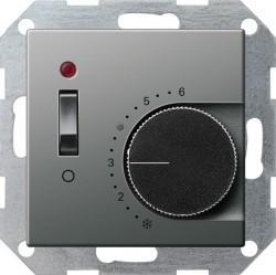 Термостат комнатный Gira EDELSTAHL, стальной, 039320
