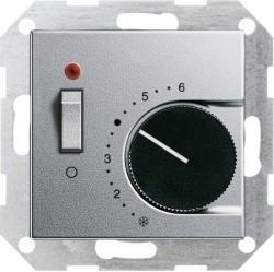 Термостат комнатный Gira SYSTEM 55, алюминий, 039326