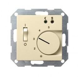 Термостат для теплого пола Gira SYSTEM 55, с датчиком, кремовый глянцевый, 039401