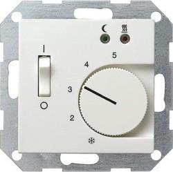 Термостат для теплого пола Gira SYSTEM 55, с датчиком, белый глянцевый, 039403