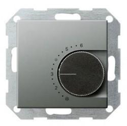 Термостат для теплого пола Gira E22, с датчиком, стальной, 039420
