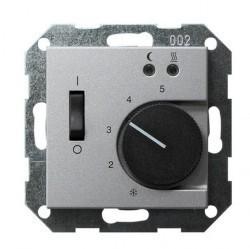 Термостат для теплого пола Gira SYSTEM 55, с датчиком, алюминий, 039426