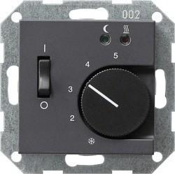 Термостат для теплого пола Gira SYSTEM 55, с датчиком, антрацит, 039428