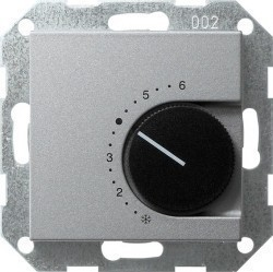 Термостат комнатный Gira SYSTEM 55, алюминий, 039626