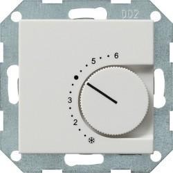 Термостат комнатный Gira SYSTEM 55, белый матовый, 039627