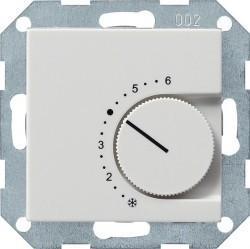 Термостат комнатный Gira SYSTEM 55, белый глянцевый, 039703