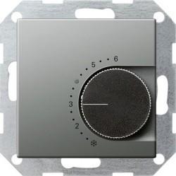 Термостат комнатный Gira EDELSTAHL, стальной, 039720