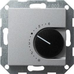 Термостат комнатный Gira SYSTEM 55, алюминий, 039726