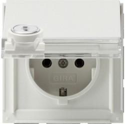Розетка Gira TX 44, скрытый монтаж, с заземлением, с крышкой, белый, 044766