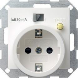 Розетка Gira SYSTEM 55, скрытый монтаж, с заземлением, белый глянцевый, 047703
