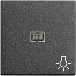 Клавиша с линзой Gira SYSTEM 55, антрацит, 063028