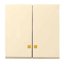 Клавиша двойная с линзами Gira SYSTEM 55, кремовый глянцевый, 063101