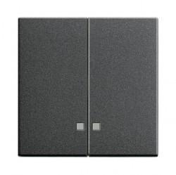 Клавиша двойная с линзами Gira SYSTEM 55, антрацит, 063128