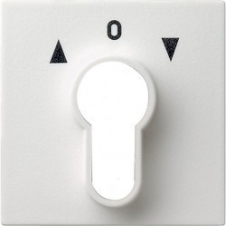 Накладка на поворотный выключатель Gira SYSTEM 55, белый глянцевый, 066403