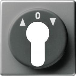 Накладка на поворотный выключатель Gira EDELSTAHL, нержавеющая сталь, 066420