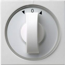 Накладка на жалюзийный выключатель Gira SYSTEM 55, белый глянцевый, 066603