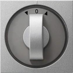 Накладка на жалюзийный выключатель Gira SYSTEM 55, алюминий, 066626