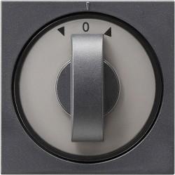 Накладка на жалюзийный выключатель Gira SYSTEM 55, антрацит, 066628