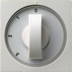 Накладка на поворотный выключатель Gira SYSTEM 55, белый глянцевый, 066903