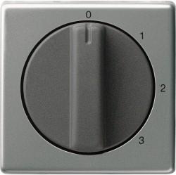 Накладка на поворотный выключатель Gira EDELSTAHL, нержавеющая сталь, 066920